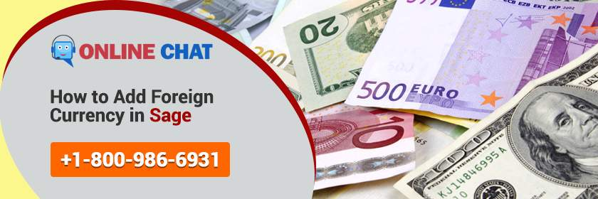 How to Add foreign Currency in Sage