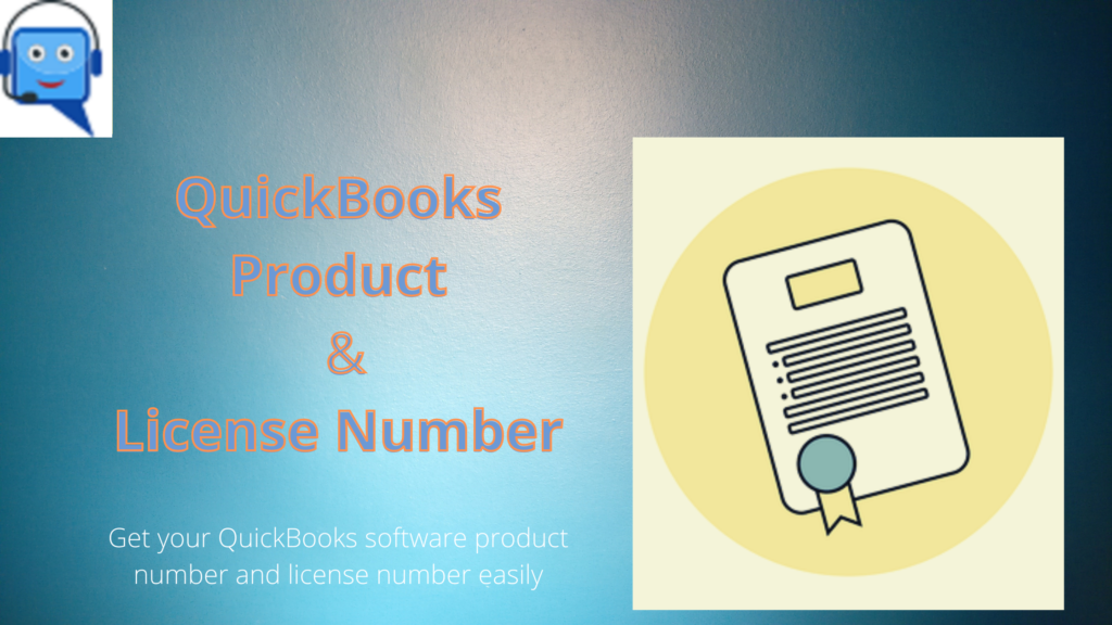 QuickBooks License Number and Product Number